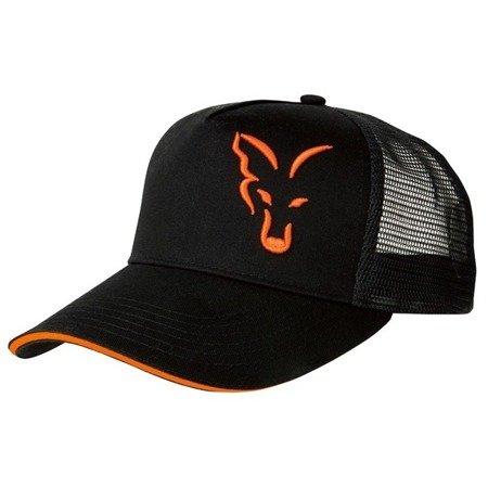 Czapka z daszkiem Fox Black & Orange Trucker Cap