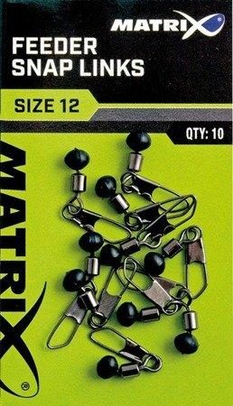 Krętliki Matrix Feeder Bead Snap Links 12 / 10 szt