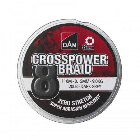 Plecionka DAM CROSSPOWER 8-BRAID 0.17MM/110M