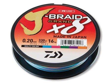 Plecionka Daiwa J-BRAID GRAND X8 0.20MM / 150M / MC