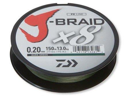 Plecionka Daiwa J-BRAID X8 0.06MM / 150M / DG
