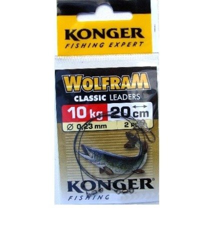 Przypon wolfram żółty KONGER 15 cm / 10KG  2szt.